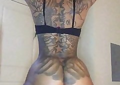 black tattooed porn